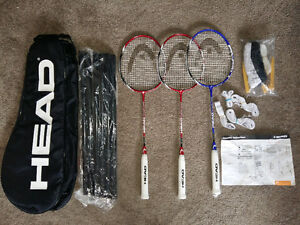 Authentic Brand New Head Badminton Racquet Complete Set