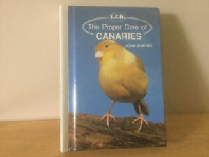 Book on the care of Canaries/254 pages/hardcover
