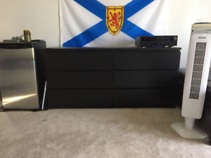 Stealth Black Six Drawer Dresser