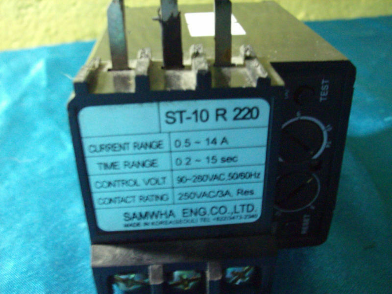 Samwha  ST-10 R ST10 ST10R 220 Overload Relay