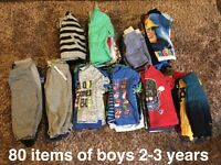 Huge bundle of boys 2-3 years clothes