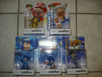Gold Mario,Toad,Sonic and Mega Man Amiibos!!