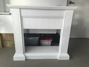 White lacquer Firebox mantel