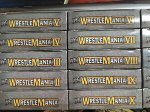 Wrestle mania 1-15 on VHS mint condition!