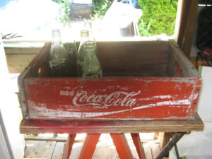 coca cola crate comes with 5 coke bottles. price is firm.