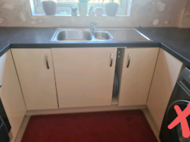 Kitchen units, worktop and inset sink *Avaliable from Monday 10th May*