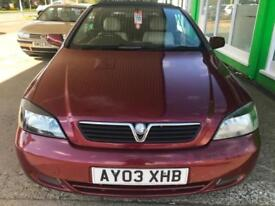2003 Vauxhall/Opel Astra 1.8i 16v 2003 - Convertible - Drives well -
