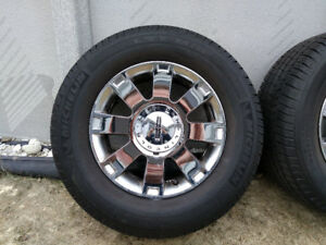 Set of four, 18 inch summer tires and mags