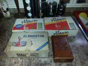 LOT OF 4 VINTAGE CIGAR BOX'S FAIR COND $5.00 FOR ALL Windsor Region Ontario image 2