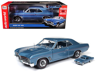 1967 Buick GS Hardtop Sapphire Blue 1:18 and 1:64 Model Limited Edition - (Sapphire Blue Model)