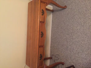 Solid wooden oak coffee, sofa table and 2 end tables
