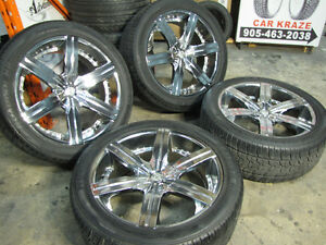 "22"" VCT Gotti Wheels & Tires Used Crome Ford F-150, Escalade"