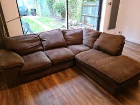 Grey corner sofa from Cargo