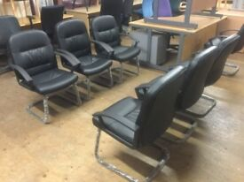 Leather reception chairs