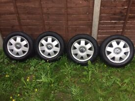 14 is inch Vw alloy wheels with tyres