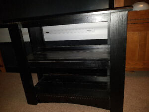 Solid wood fish tank stand