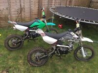 2x 110cc Pitbikes Ideal Projects Pit bike Dirt bike Off-road Quad BARGAIN!!