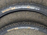 Pair of 650b 27.5 Continental Mountain King Tyres