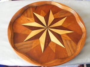 BEAUTIFUL PARQUETRY WOODEN TRAY