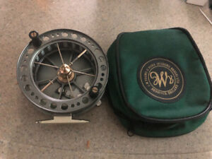 J w young center pin reel
