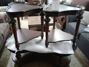 Shaped Coffee Table and End Table