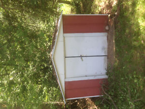 10' by 10' metal shed