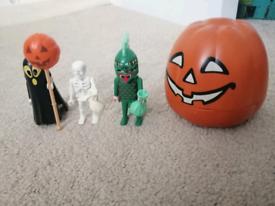 Playmobil 4771 Halloween set ghost skeleton trick or treat pumpkin 👻