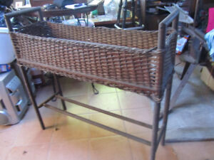 ANTIQUE WICKER PLANTER FOR SALE
