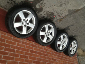 ---4 VW MAGS AND SUMMER TIRES----