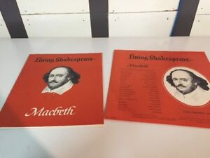Living Shakespeare - Vinyl Record and Play Set