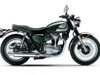 Kawasaki W800 2020 Classic retro 1960's street style motorbike