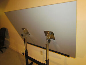 Tilting Drafting / Artist Drawing Table And Chair For Sale Cornwall Ontario image 2