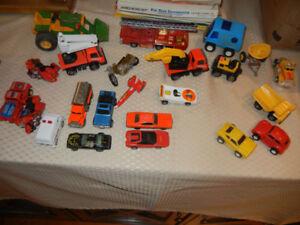 Lot of Toy Cars, Trucks, Firetrucks, Tonka, Hotwheels, Buddy L