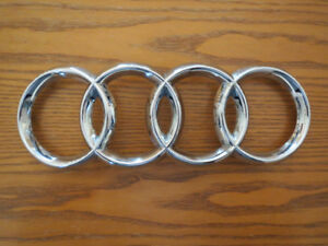 Audi OEM CHROME Front Grill Emblem/Badge Rings No. 8D0853605