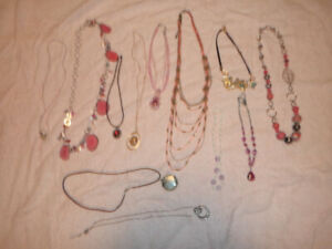 jewellery(have approx 12 necklaces to go..do not wear exc cond