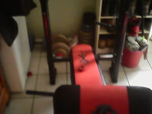 Weight bench with 200 lbs
