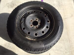 Winter Tires 215/65R16 with 5x115 Black Rims