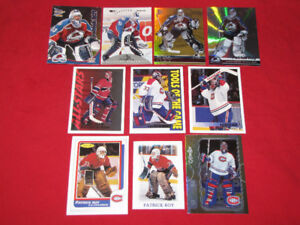 Selection of 10 Patrick Roy cards from 1990s and early 2000s