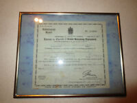 LICENSE TO OPERATE A RADIO RECEIVING EQUIPMENT 1928