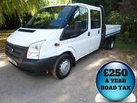 2013 Ford Transit 2.2TDCi 125 350L Dropside Double Cab 6 Seat Truck