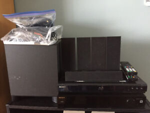 MUST GO - SONY SURROUND SND SYSTEM W/BLUE RAY DVD PLAYER - $75