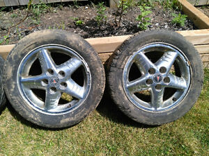 4 Pontiac Grand AM chrome rims London Ontario image 2