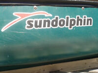 SUNDOLPHIN 15.5' SQUARE STERN CANOE with Paddles. $650.