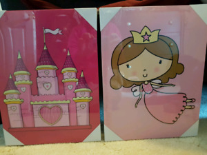 Canvas Princess and Castle pictures