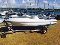 Open Salva 400 fishing boat
