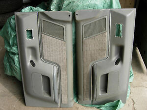 Grey Power Door Panels for 87 to 91 F150, F250, Bronco