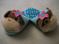 Girls slippers - size 13-1, size 1-2