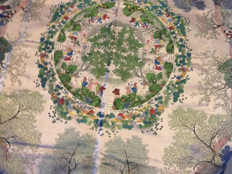 """New quality heavy duty tablecloth for 42"""" round table - bought in China about 50 years ago"""