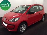 £95.51 PER MONTH RED 2014 VW UP 1.0 TAKE UP 3 DOOR PETROL MANUAL