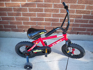 KIDS BICYCLE ELMO SESAME STREET WITH TRAINING WHEELS LIKE NEW